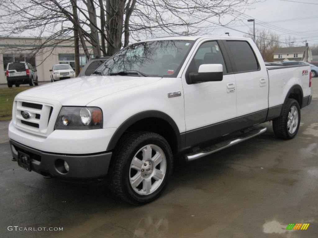 2007 f150 fx4 supercrew 4x4 oxford white black photo 1