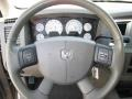 2007 Dodge Ram 1500 Khaki Beige Interior Steering Wheel Photo