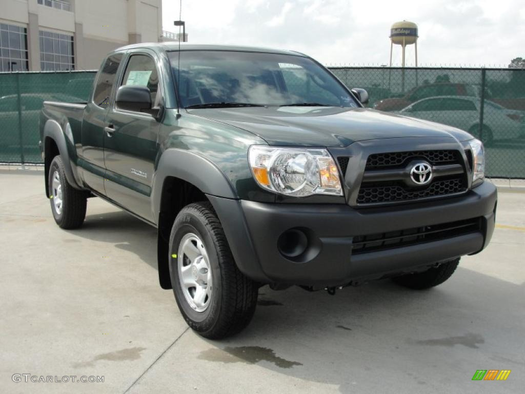 2011 timberland green mica toyota tacoma access cab 4x4 47057587 car color. Black Bedroom Furniture Sets. Home Design Ideas