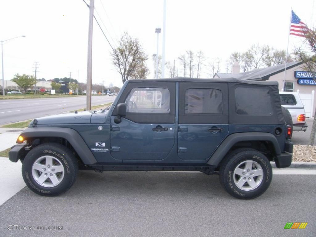 steel blue metallic 2008 jeep wrangler unlimited x 4x4 exterior photo. Cars Review. Best American Auto & Cars Review