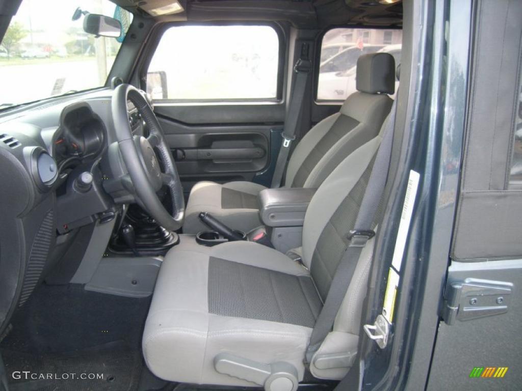 Dark Slate Gray Med Slate Gray Interior 2008 Jeep Wrangler Unlimited X 4x4 Photo 47084429