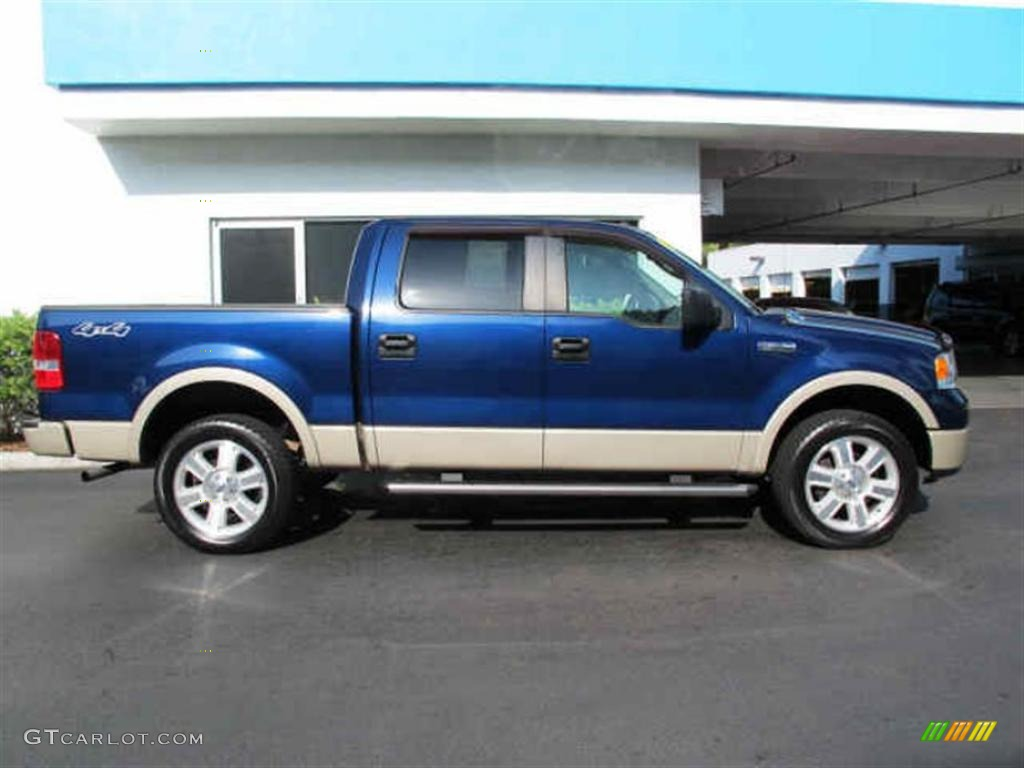 Dark blue pearl metallic 2007 ford f150 lariat supercrew 4x4 exterior photo 47085956