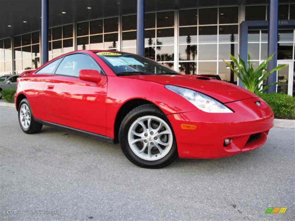 absolutely red 2000 toyota celica gt exterior photo. Black Bedroom Furniture Sets. Home Design Ideas