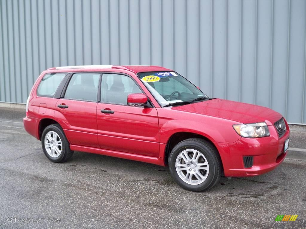 2008 Garnet Red Pearl Subaru Forester 2 5 X Sports 4689307