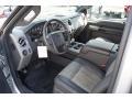 2011 Ford F250 Super Duty Black Two Tone Leather Interior Prime Interior Photo