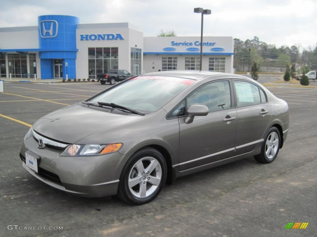 galaxy gray metallic 2008 honda civic ex l sedan exterior. Black Bedroom Furniture Sets. Home Design Ideas