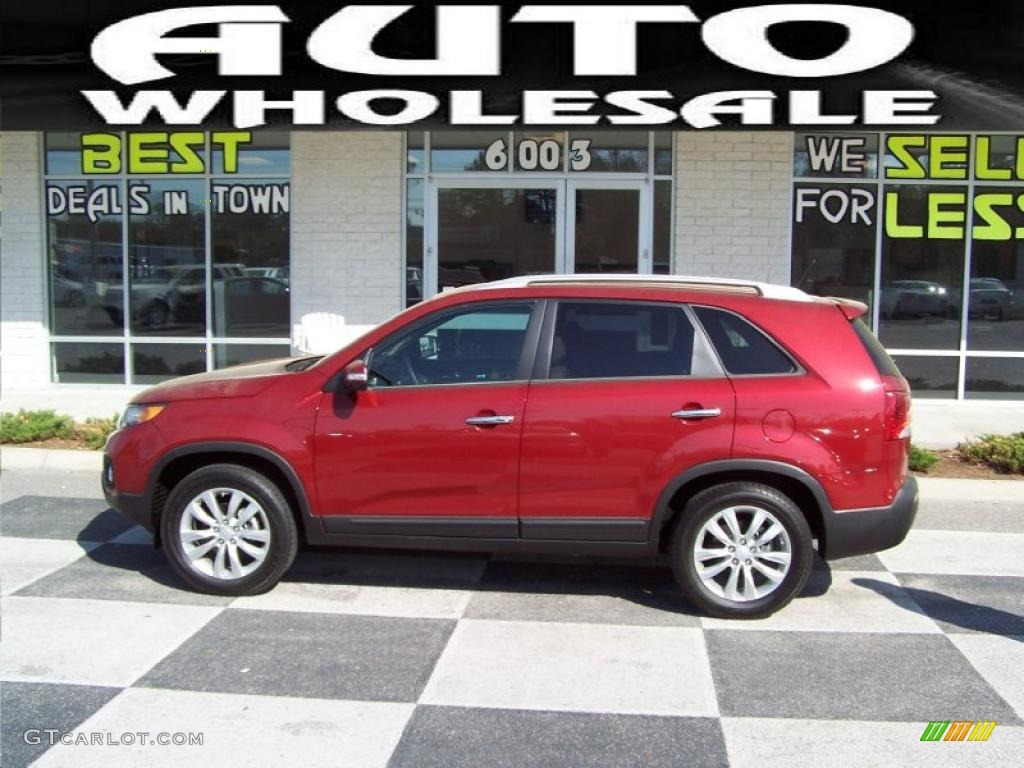 2011 Sorento EX - Spicy Red / Beige photo #1
