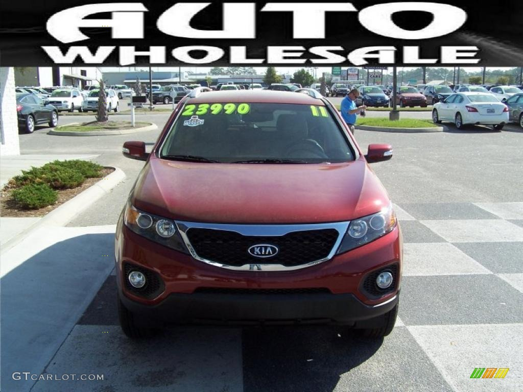 2011 Sorento EX - Spicy Red / Beige photo #2