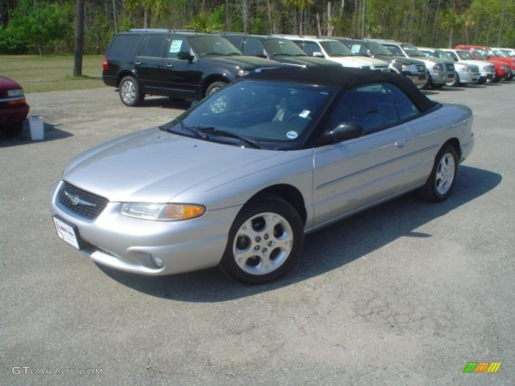 Bright Silver Metallic Chrysler Sebring Jxi Convertible