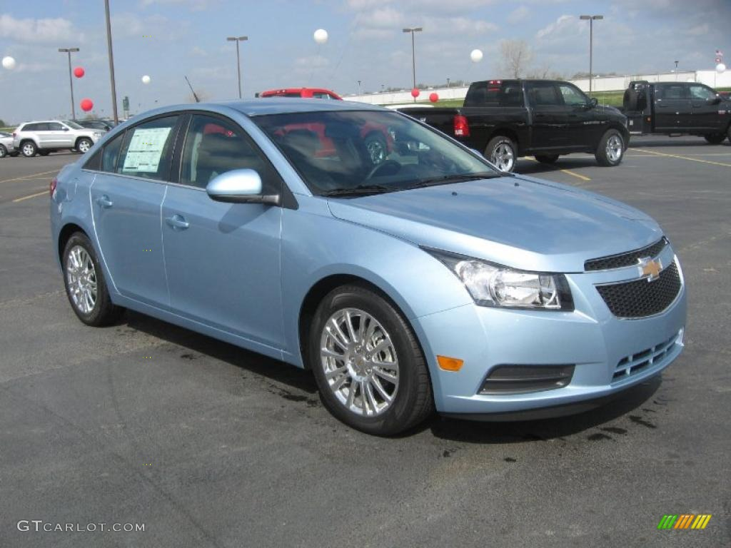 Ice Blue Metallic 2011 Chevrolet Cruze Eco Exterior Photo