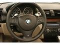 2010 BMW 1 Series Taupe Boston Leather Interior Steering Wheel Photo