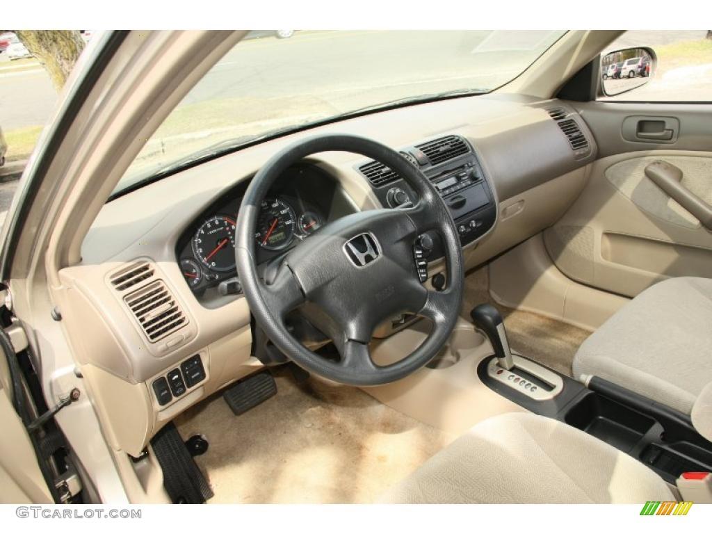 Beige Interior 2001 Honda Civic Ex Sedan Photo 47116373