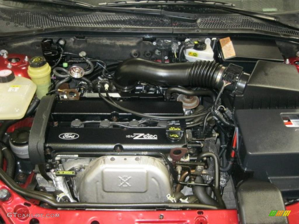 2002 ford focus zx3 coupe 2 0 liter dohc 16 valve zetec 4 cylinder engine photo