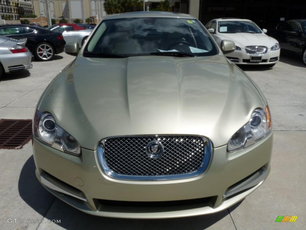 2009 winter gold metallic jaguar xf premium luxury. Black Bedroom Furniture Sets. Home Design Ideas