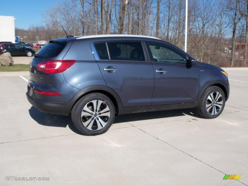 twilight blue 2011 kia sportage ex awd exterior photo 47122287. Black Bedroom Furniture Sets. Home Design Ideas