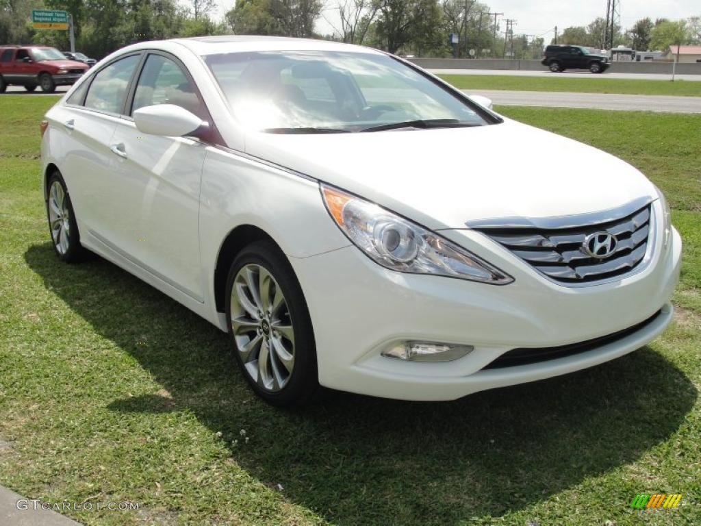 Pearl White 2011 Hyundai Sonata Se 2 0t Exterior Photo