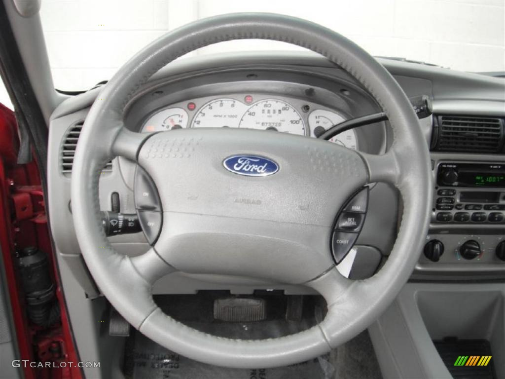2003 Ford Explorer Sport XLT 4x4 Graphite Grey Steering Wheel Photo #47137472