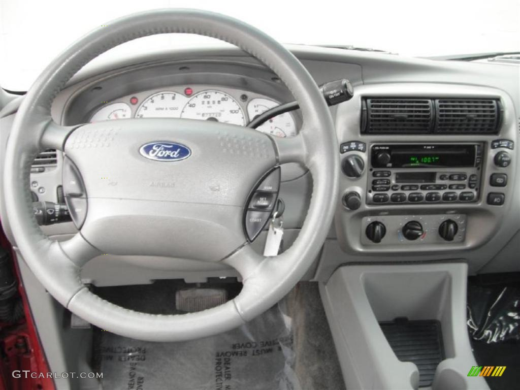 2003 Ford Explorer Sport XLT 4x4 Graphite Grey Dashboard Photo #47137527