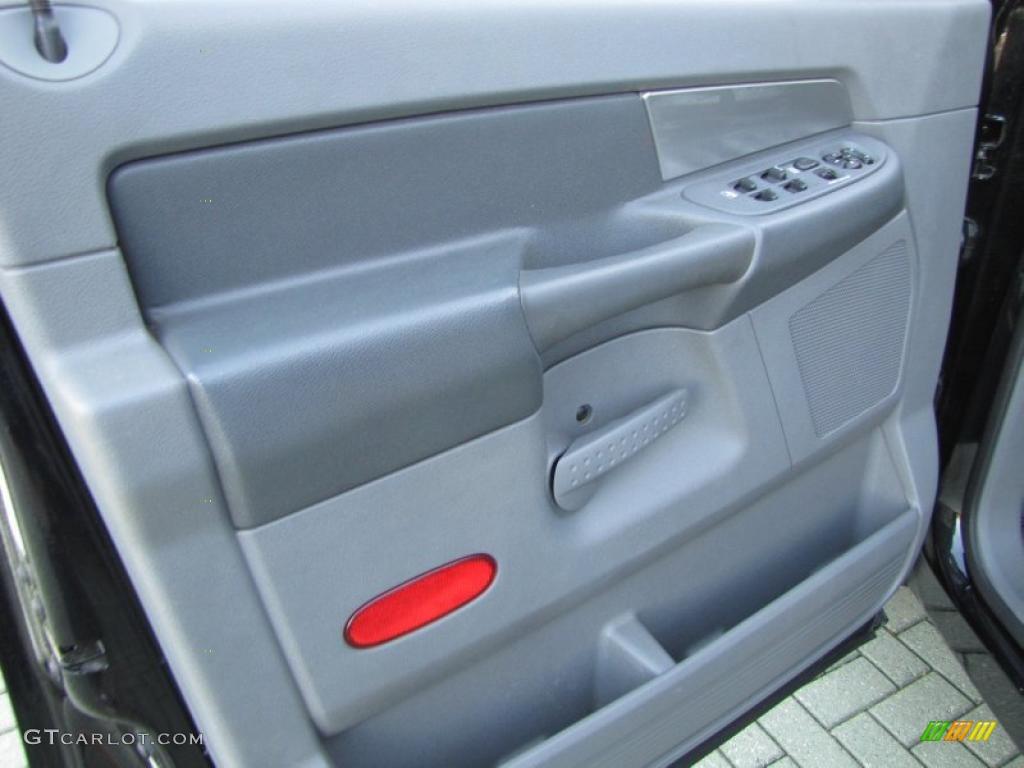 2007 Dodge Ram 3500 SLT Quad Cab Dually Medium Slate Gray Door Panel Photo #47138052