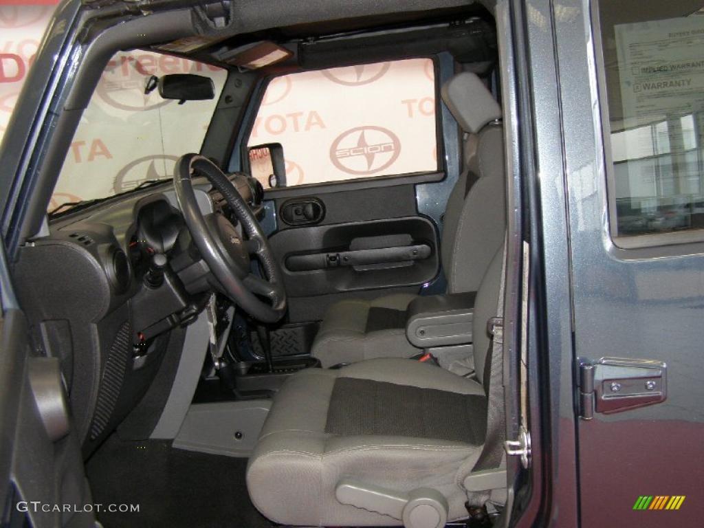 Dark Slate Gray Med Slate Gray Interior 2008 Jeep Wrangler Unlimited X 4x4 Photo 47141340