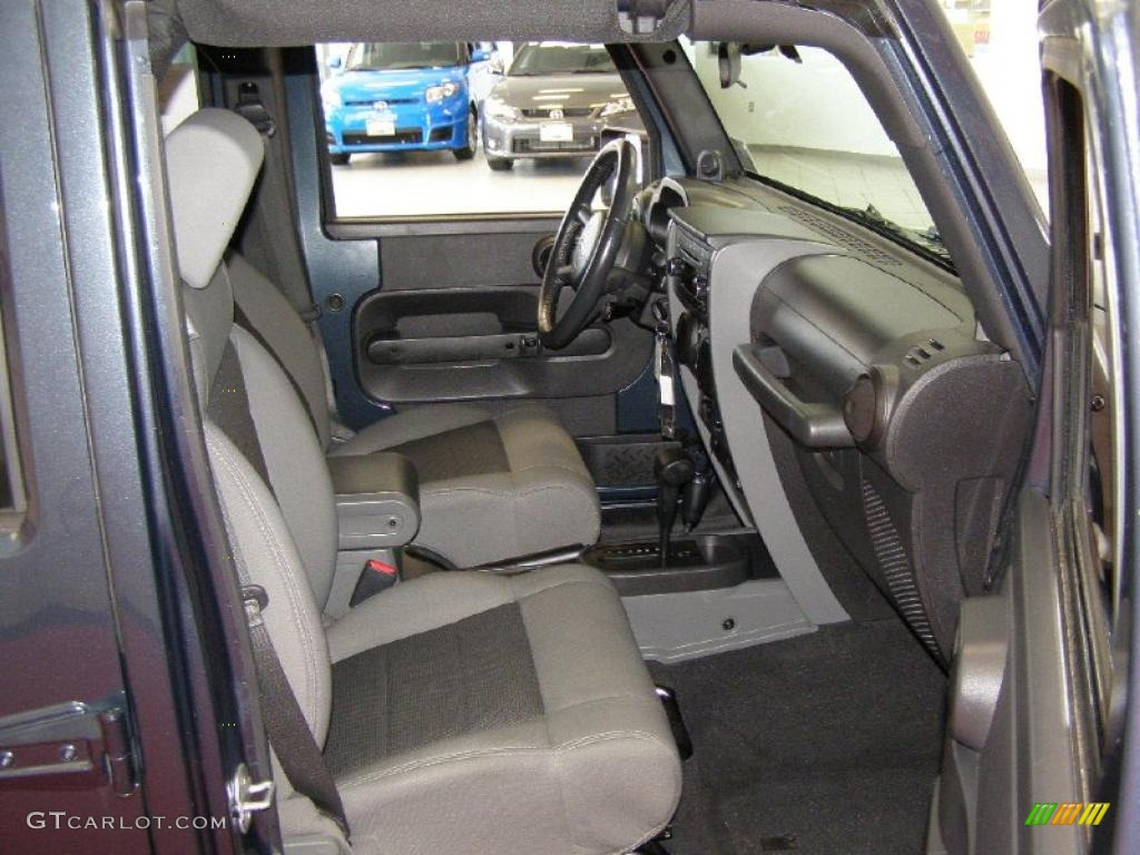 Dark Slate Gray Med Slate Gray Interior 2008 Jeep Wrangler Unlimited X 4x4 Photo 47141511
