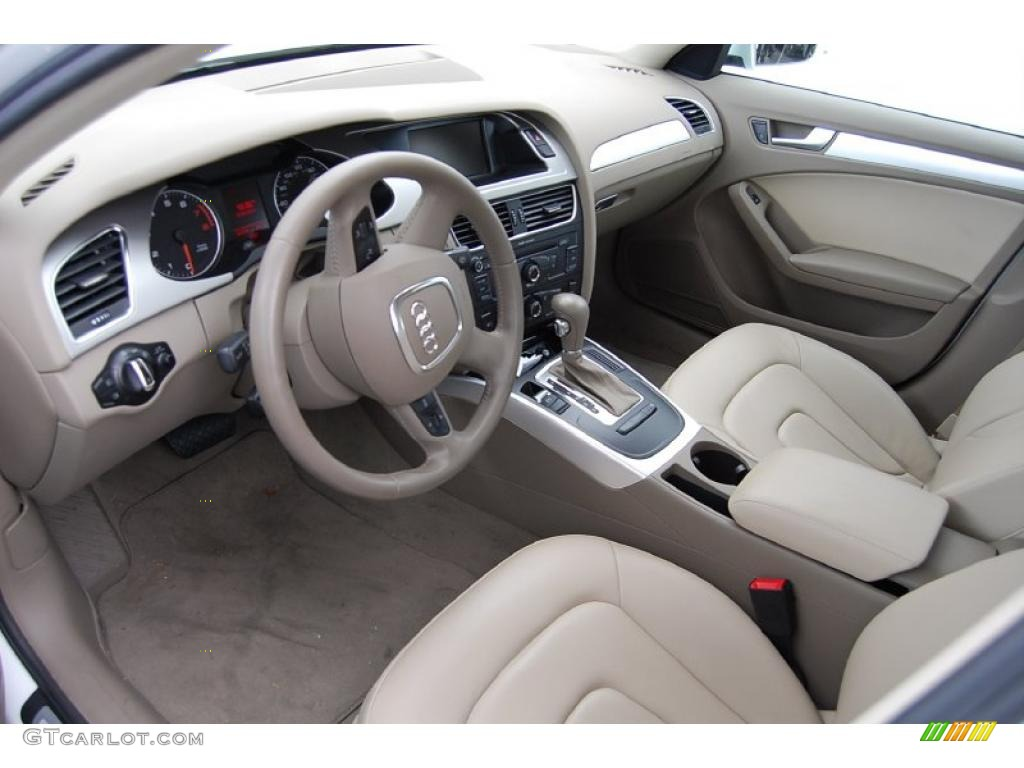 Cardamom Beige Interior 2009 Audi A4 2 0t Sedan Photo