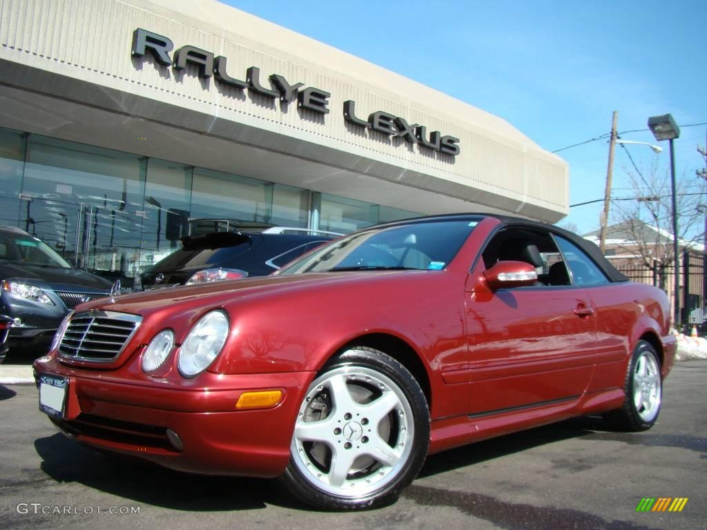 2002 Clk 55 Amg Cabriolet Firemist Red Metallic Charcoal Photo 1