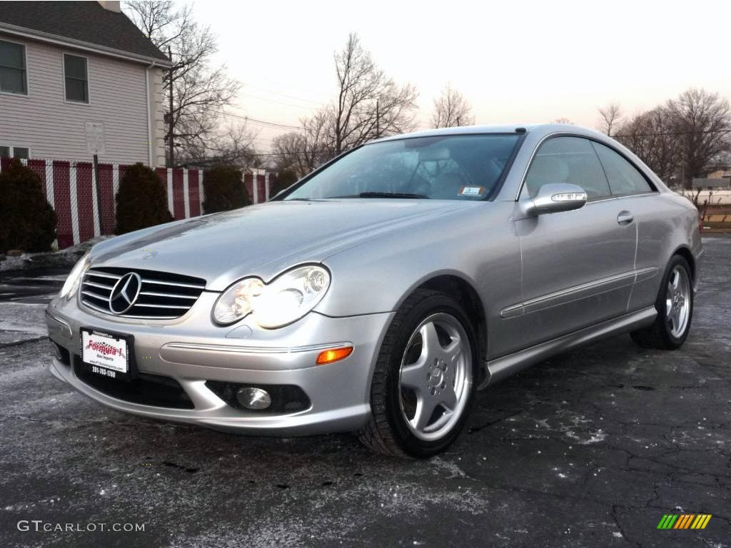 2003 brilliant silver metallic mercedes benz clk 500 coupe for Mercedes benz silver