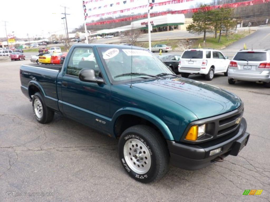 1996 s10 ls regular cab emerald green metallic graphite photo 7