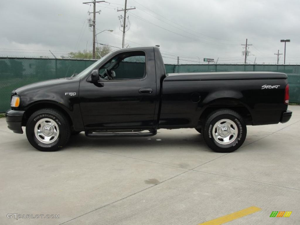 Black 2002 Ford F150 Sport Regular Cab Exterior Photo