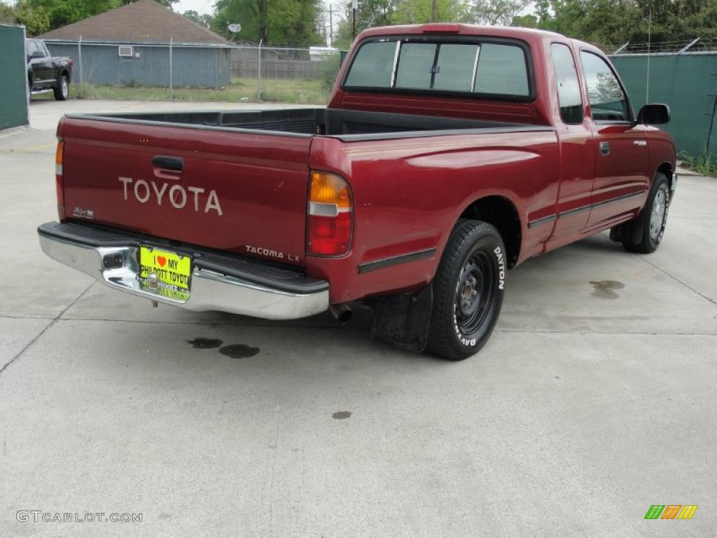 1996 sunfire red pearl toyota tacoma extended cab 47157431 photo 3 car color. Black Bedroom Furniture Sets. Home Design Ideas
