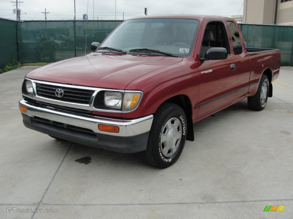 Sunfire Red Pearl 1996 Toyota Tacoma Extended Cab Exterior