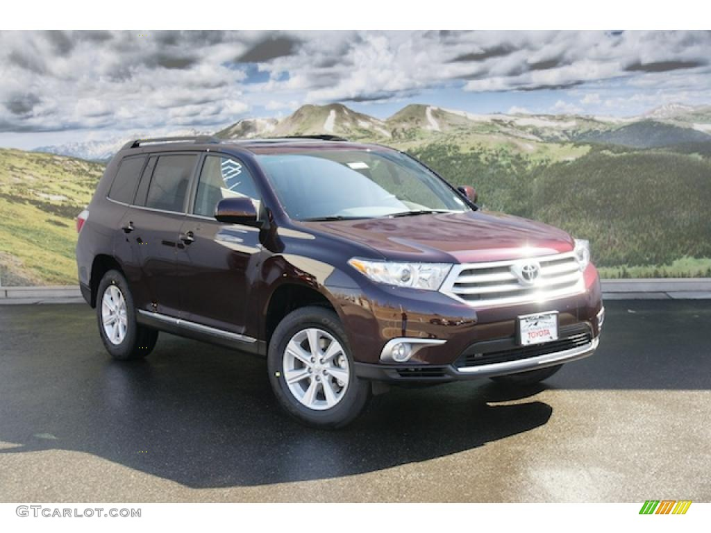 2011 sizzling crimson mica toyota highlander v6 4wd 47157076 car color galleries. Black Bedroom Furniture Sets. Home Design Ideas