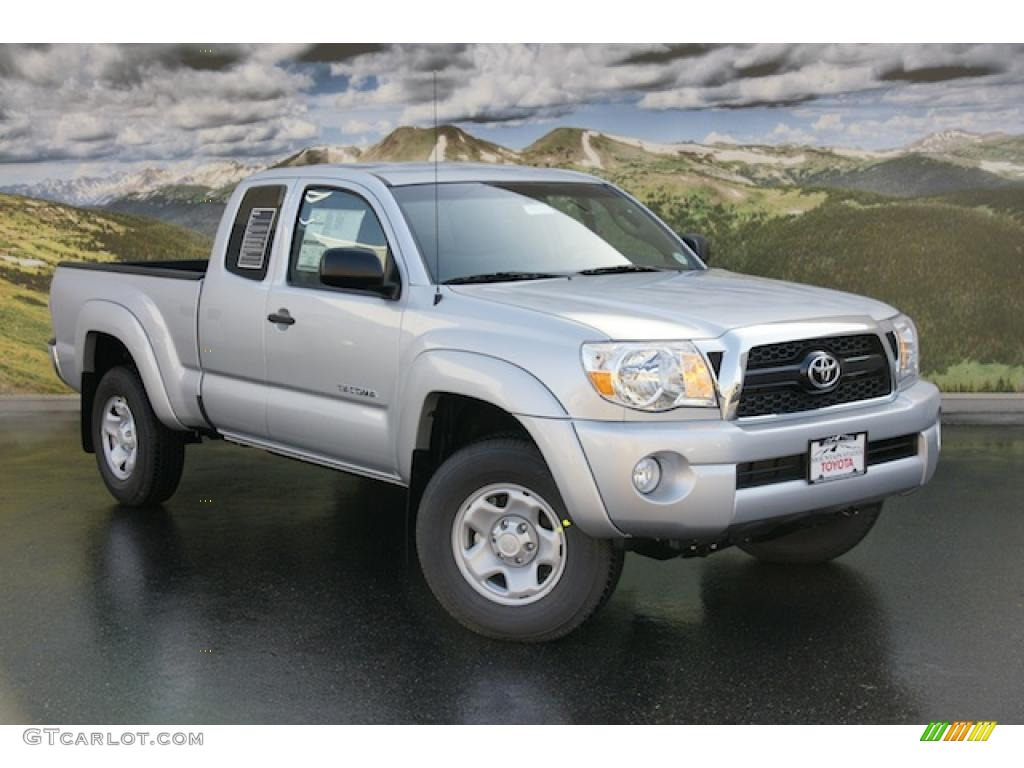 2011 silver streak mica toyota tacoma v6 sr5 access cab 4x4 47157082 car color. Black Bedroom Furniture Sets. Home Design Ideas