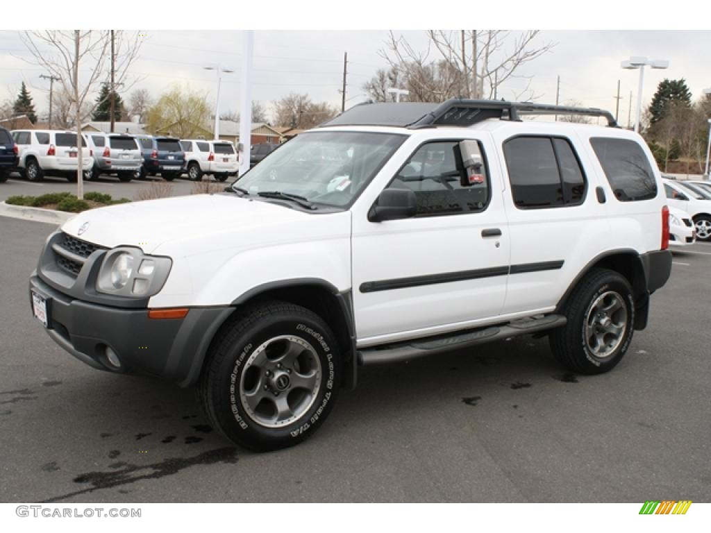 cloud white 2002 nissan xterra se v6 sc 4x4 exterior photo. Black Bedroom Furniture Sets. Home Design Ideas