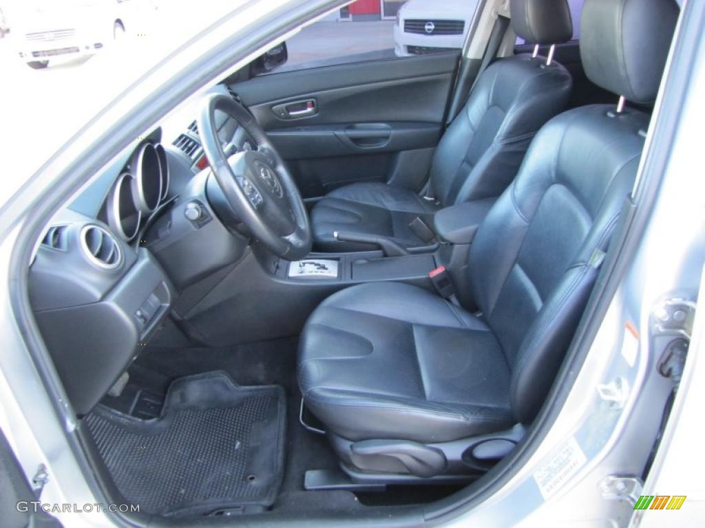 black interior 2004 mazda mazda3 s sedan photo 47167473. Black Bedroom Furniture Sets. Home Design Ideas