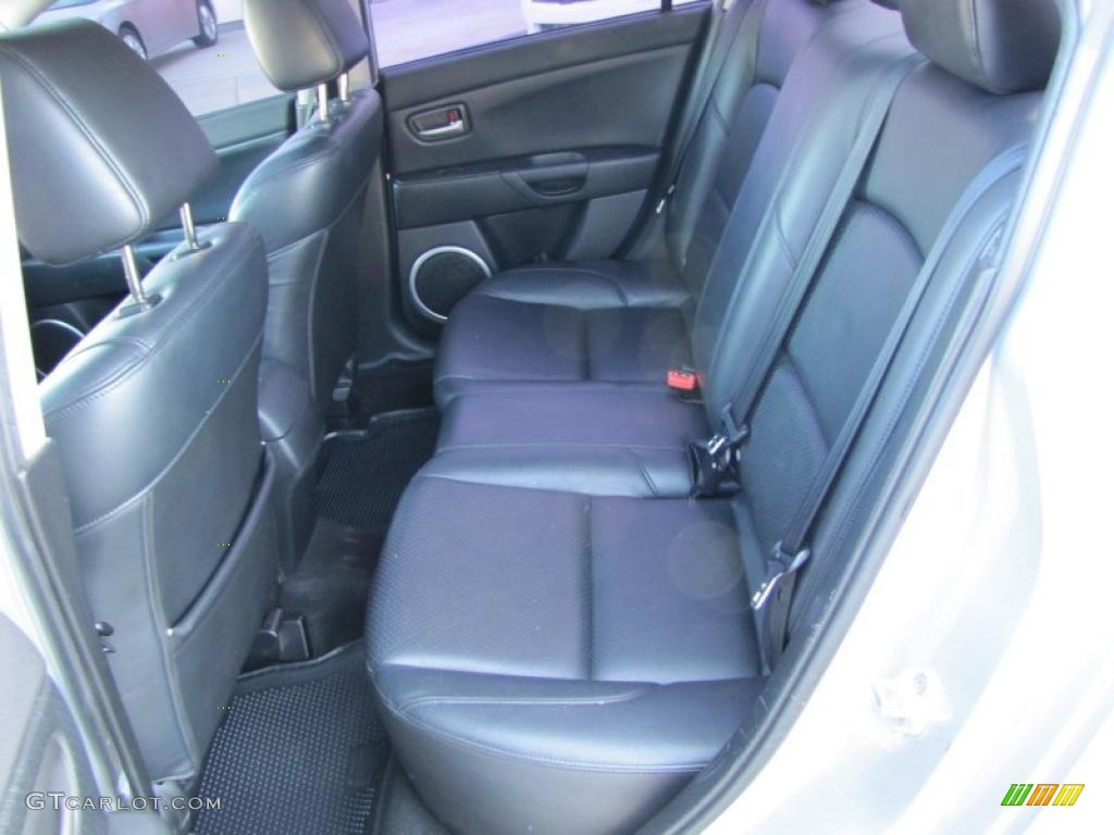 black interior 2004 mazda mazda3 s sedan photo 47167491. Black Bedroom Furniture Sets. Home Design Ideas