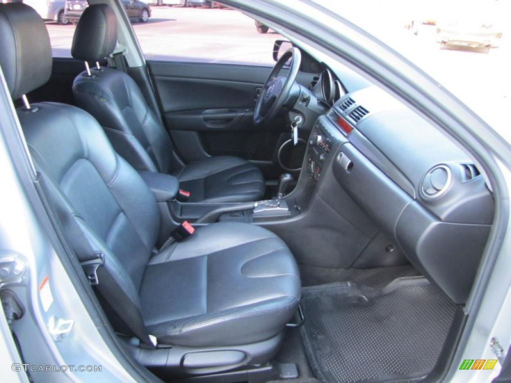 black interior 2004 mazda mazda3 s sedan photo 47167509. Black Bedroom Furniture Sets. Home Design Ideas