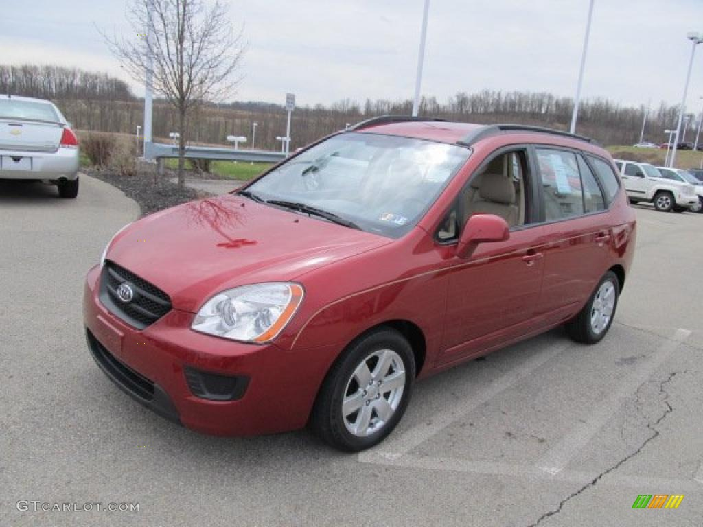 Volcanic Red 2008 Kia Rondo LX V6 Exterior Photo #47168049 ...