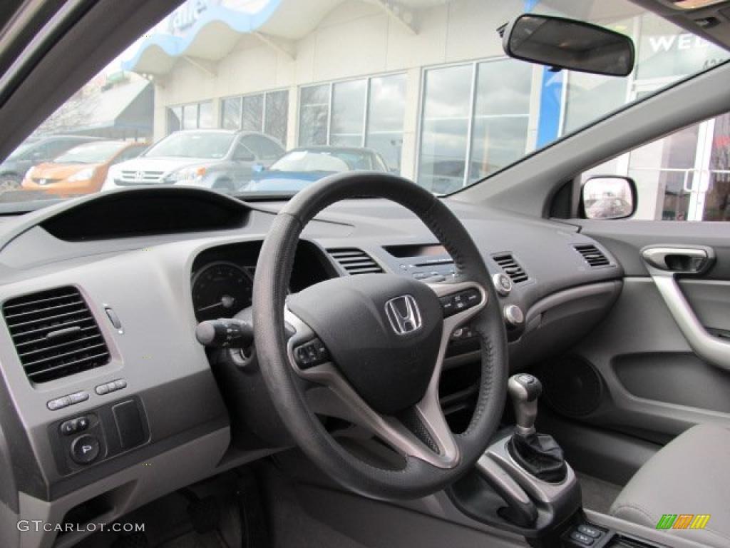 2008 Honda Civic Ex L Coupe Gray Dashboard Photo 47176512