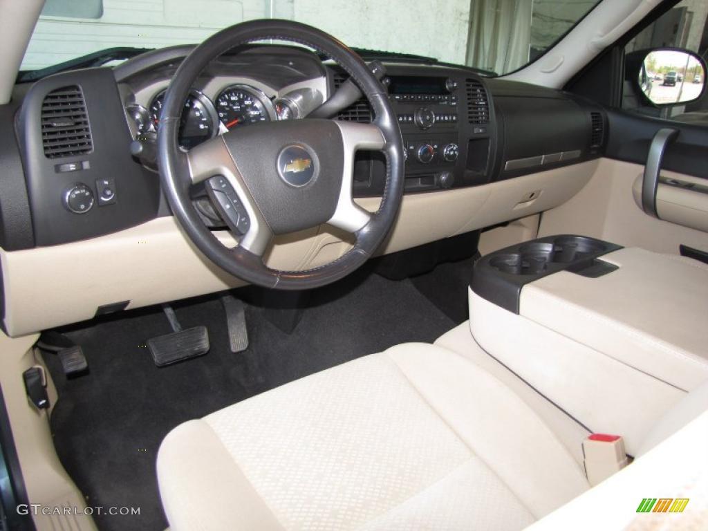 Light Cashmere Ebony Accents Interior 2008 Chevrolet Silverado 1500