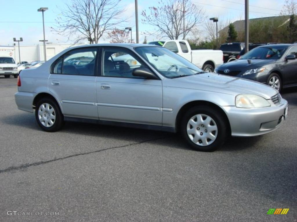 Vogue Silver Metallic 2000 Honda Civic Vp Sedan Exterior
