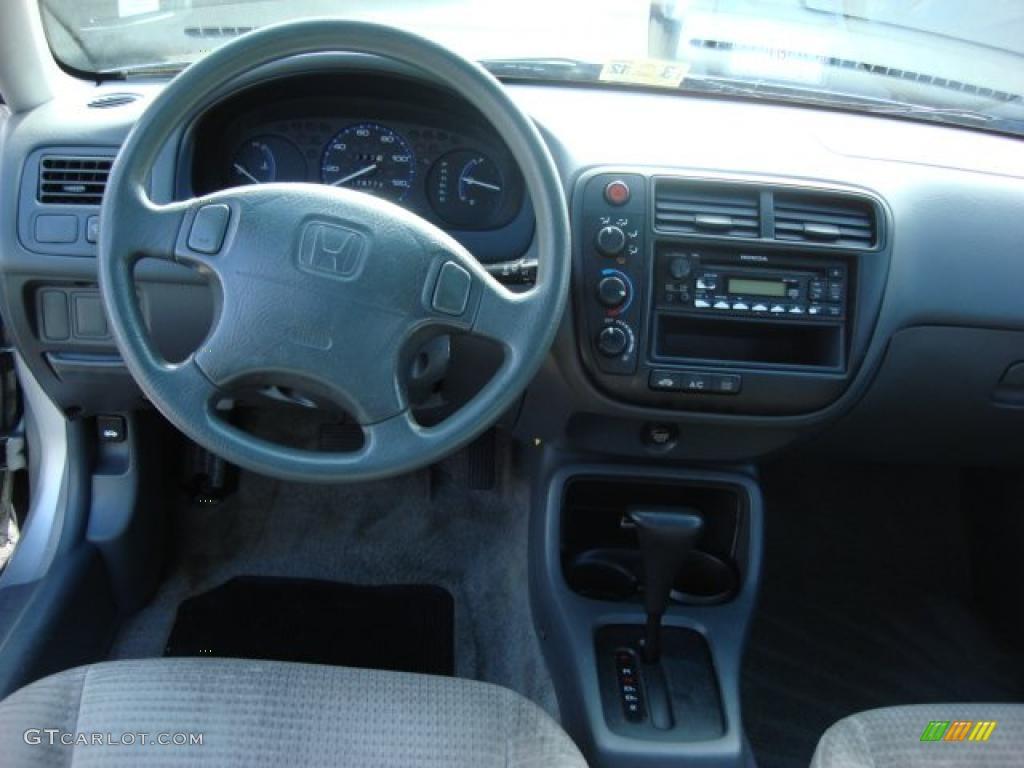 2000 Honda Civic VP Sedan Gray Dashboard Photo #47184660 ...