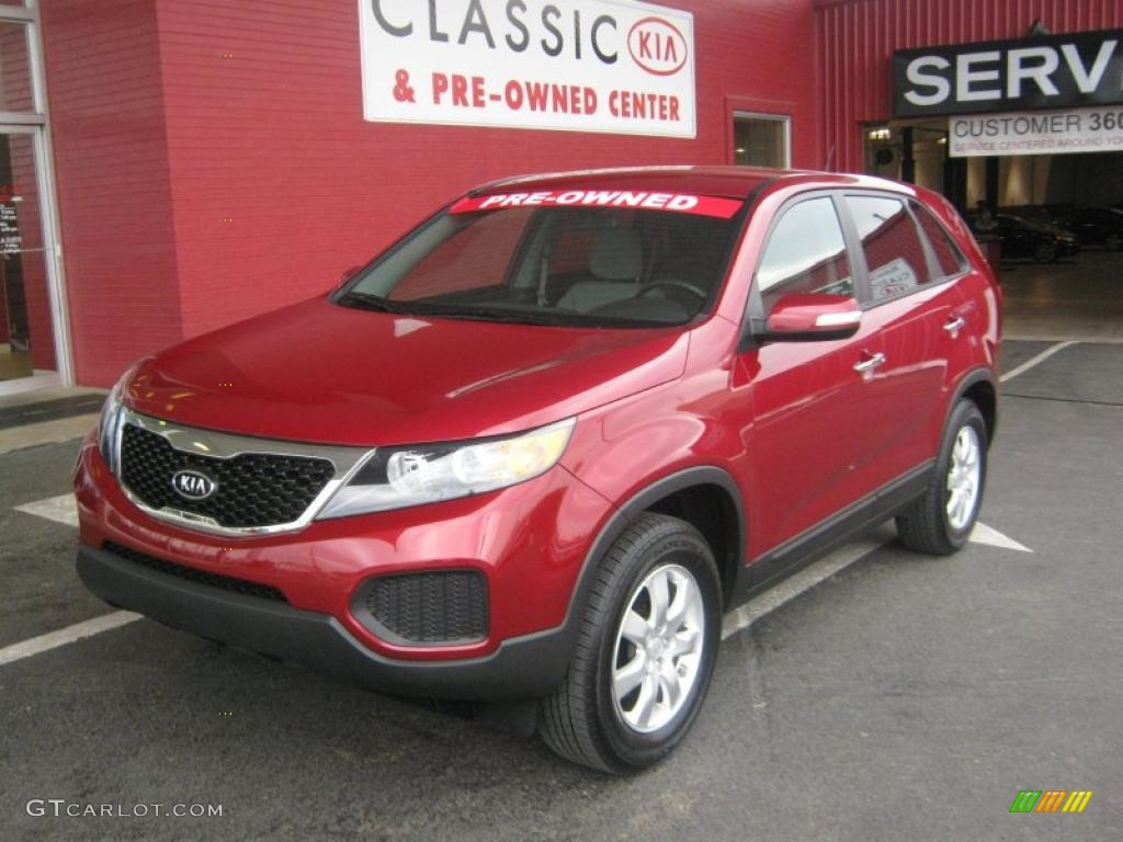 2011 Sorento LX - Spicy Red / Gray photo #1