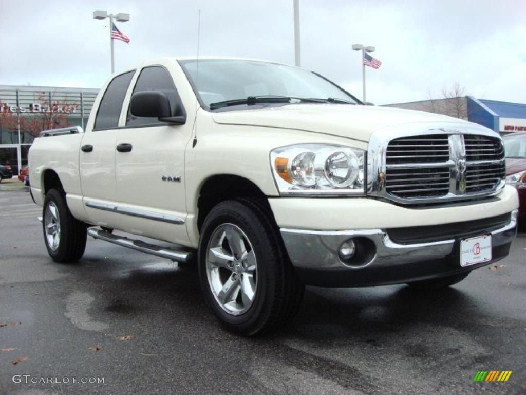 2008 cool vanilla white dodge ram 1500 big horn edition quad cab 4x4 47157620. Black Bedroom Furniture Sets. Home Design Ideas