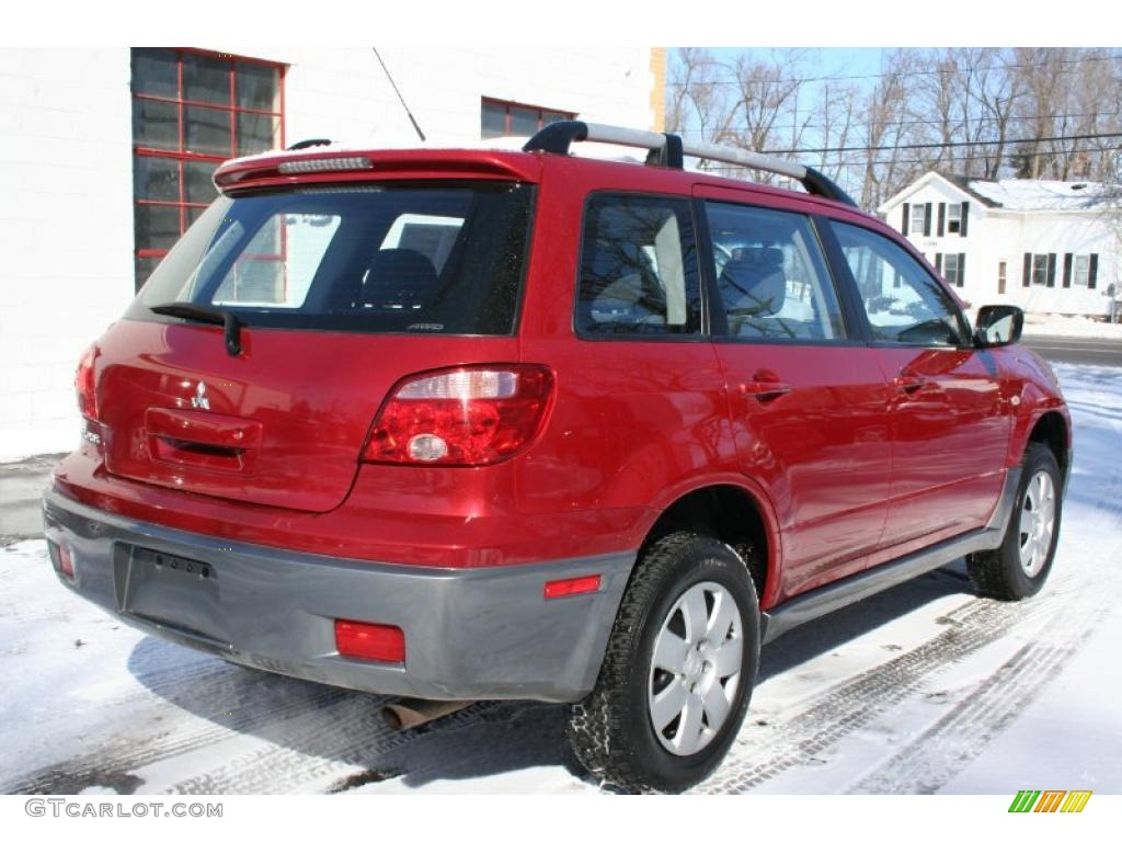 rio red pearl 2006 mitsubishi outlander ls 4wd exterior. Black Bedroom Furniture Sets. Home Design Ideas