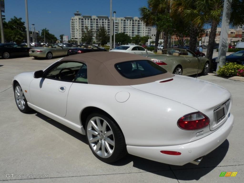 White onyx 2006 jaguar xk xk8 convertible exterior photo 47198222 gtcarlot com