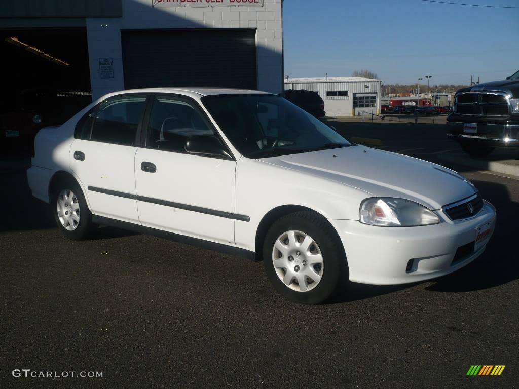 2000 Civic DX Sedan   Taffeta White / Gray Photo #3