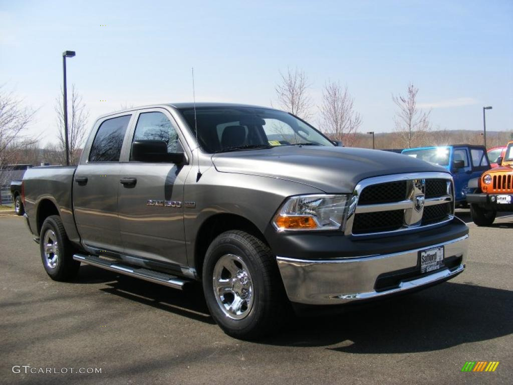 mineral gray metallic 2011 dodge ram 1500 st crew cab 4x4 exterior photo 47206562. Black Bedroom Furniture Sets. Home Design Ideas