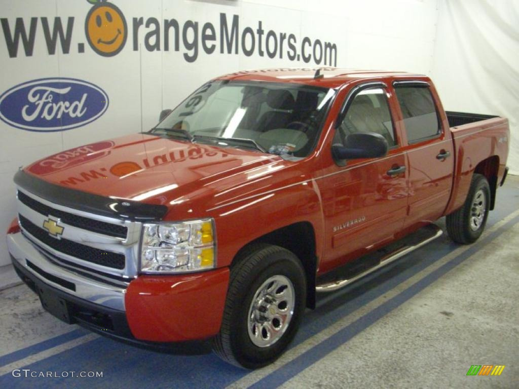 2009 Silverado 1500 LS Crew Cab 4x4 - Victory Red / Dark Titanium photo #1